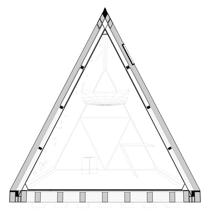 Sezione prospettica (lato corto)