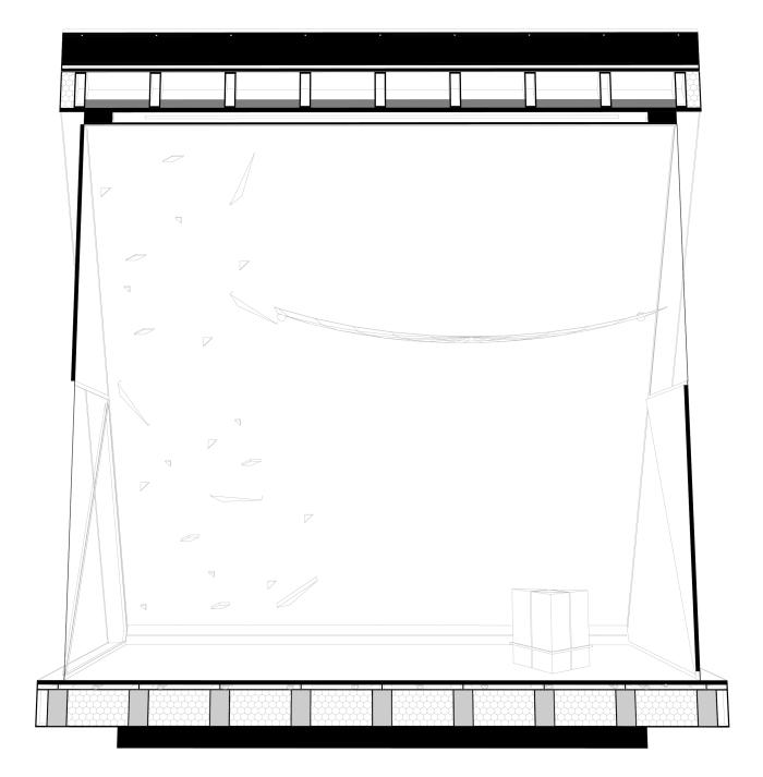 Sezione prospettica (lato lungo)